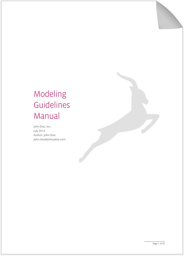 Cover Modeling Guidelines Manual